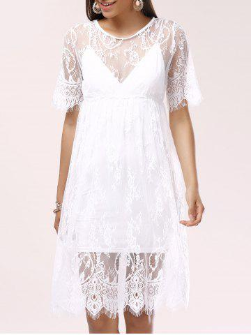 Hot See-Through Lace Cover-Up Dress