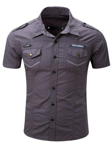 Outfits Turn-Down Collar Pocket Design Cargo Shirt For Men