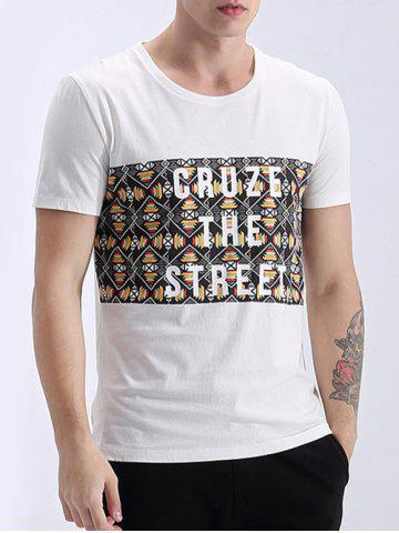 Outfit Trendy Round Neck Letter Print Short Sleeves T-Shirt For Men