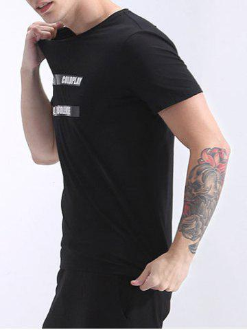 Outfits Refreshing Round Neck Letter Printed Short Sleeve T-Shirt For Men