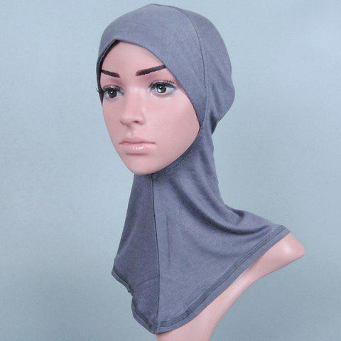 Concise Various Color Hijab Islamic Neck Cover Head Wear Cap Scarf For Women - Gray
