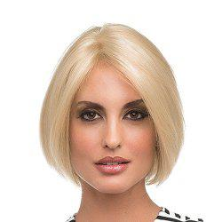 Bob Style Straight Side Parting Capless Blonde Synthetic Women's Short Wig