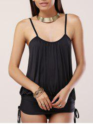 Chic Two Side Drawstring Women's Cami Swimwear