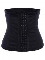 Stylish Strapless Button Design Spliced Color Block Women's Corset - BLACK