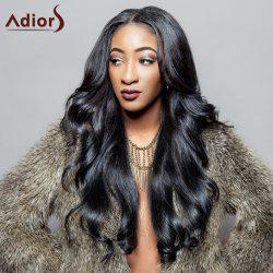 Adiors Charming Black Long Synthetic Fluffy Wave Centre Parting Wig For Women