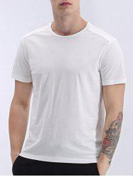 Round Neck Simple Solid Color Short Sleeve T-Shirt For Men -