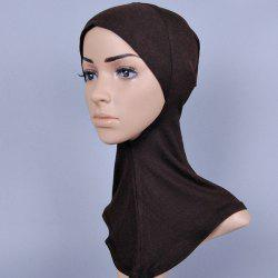 Concise Various Color Hijab Islamic Neck Cover Head Wear Cap Scarf For Women - DEEP BROWN