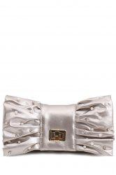 Bowknot Evening Clutch - SILVER GRAY
