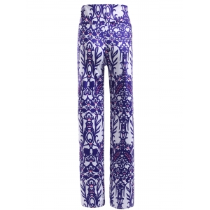 Casual Multi Pattern Print Elastic Waist Pants For Women -