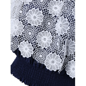 Fashionable Off The Shoulder Crochet Lace Crop Top For Women -