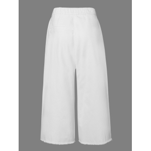 Casual Solid Color Capri Palazzo Pants For Women -