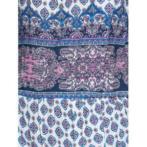 Ethnic Style Printed Off The Shoulder CropTop + Shorts Twinset For Women -