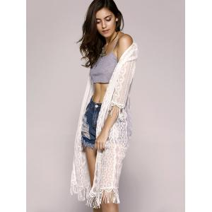 Fashionable Openwork Lace Fringe Kimono For Women -