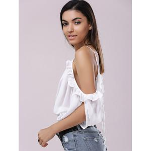 Stylish Lace Up Backless Plunging Neck Top For Women -