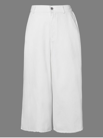 Buy Casual Solid Color Capri Palazzo Pants For Women