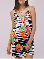 Fashionable Spaghetti Strap Printing Dress For Women