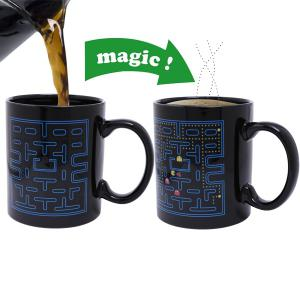 Amazing Pac-Man Pattern Ceramic Heat Sensitive DIY Color Changing Mug For Gifts - Black