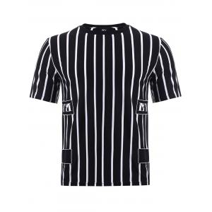 BoyNewYork Color Block Stripes Pattern T-Shirt