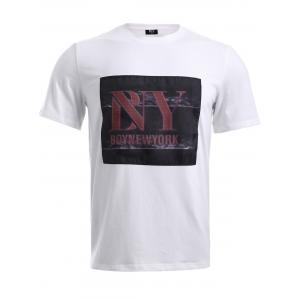 BoyNewYork Letters Applique T-Shirt