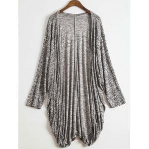 Stylish Open Front Batwing Sleeve Loose-Fitting Women's Long Cardigan