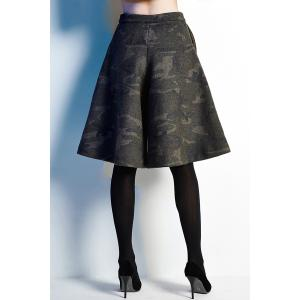 Camouflage Fifth Culotte Shorts -
