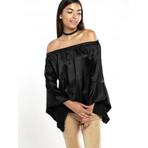 Off The Shoulder Ruffle Sleeve Blouse -
