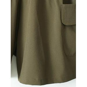 Plus Size Running Shorts with Pockets - ARMY GREEN 3XL