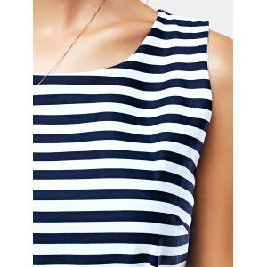 Casual Striped Concealed Zipper Dress -