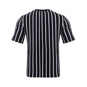BoyNewYork Color Block Stripes Pattern T-Shirt - STRIPE XL