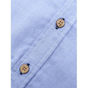 Turn-Down Collar Embroidery Long Sleeve Shirt For Men -