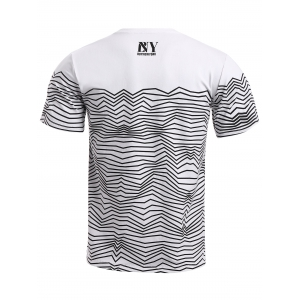 BoyNewYork Wavy Stripes T-Shirt - STRIPE M