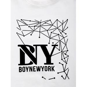 BoyNewYork Geometric Pattern Short Sleeves T-Shirt -