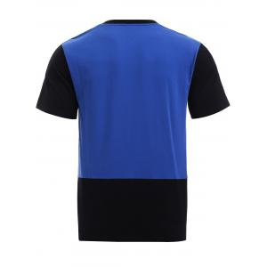 BoyNewYork Color Block Short Sleeves T-Shirt - BLUE AND BLACK S