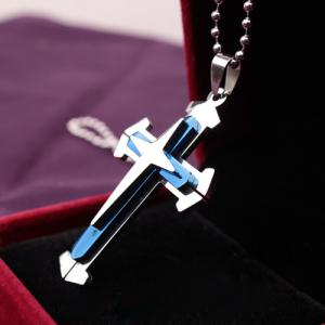 Cross Stainless Steel Pendant Necklace -