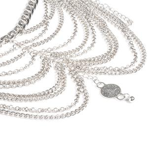 Chaînes Layered Embossed Coin Anklet -