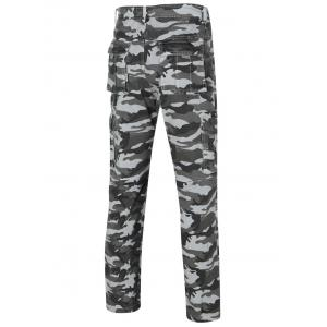 Camo Straight Legs Cargo Pants For Men -