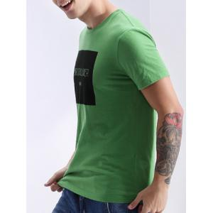 Round Neck Letters Print Fashion Short Sleeve T-Shirt For Men -