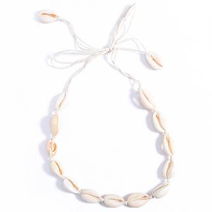 Vintage Natural Little Conch Choker Necklace - OFF-WHITE