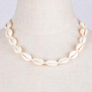 Vintage Natural Little Conch Choker Necklace - OFF WHITE
