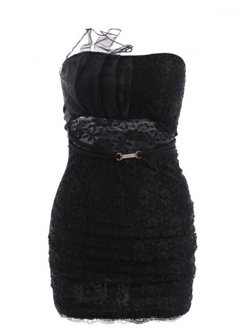 Store Sexy Strapless Lace Slimming Dress For Women