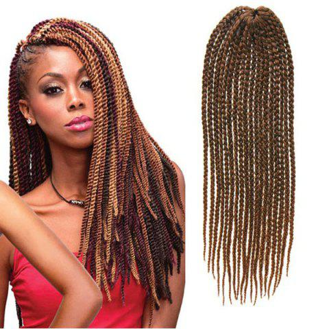 Outfit Fashion Handmade Medium Braided 14Pcs/Lot Dark Brown Ombre Synthetic Hair Extension For Women - OMBRE 1211#  Mobile