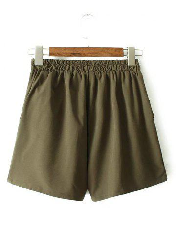 Discount Plus Size Running Shorts with Pockets ARMY GREEN 3XL
