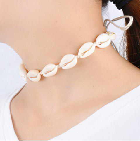 Cheap Vintage Natural Little Conch Choker Necklace OFF WHITE