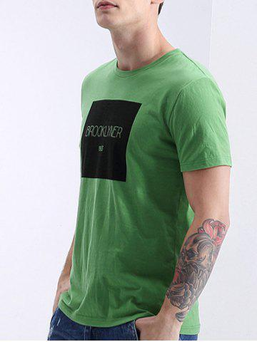Outfit Round Neck Letters Print Fashion Short Sleeve T-Shirt For Men