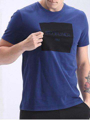 Online Round Neck Letters Print Fashion Short Sleeve T-Shirt For Men