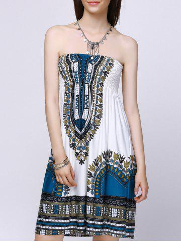 Affordable Exotic Strapless Tribal Pattern Dress