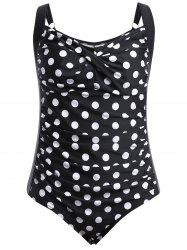 Retro Polka Dot One Piece Swimsuit