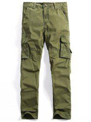 Straight Leg Multi-Pocket Cargo Pants For Men