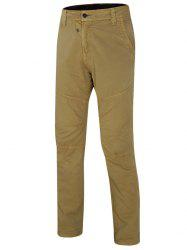 Zipper Design Solid Color Straight Leg Pants For Men