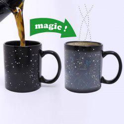 Amazing Tribe People Pattern Ceramic Heat Sensitive DIY Color Changing Mug For Gifts